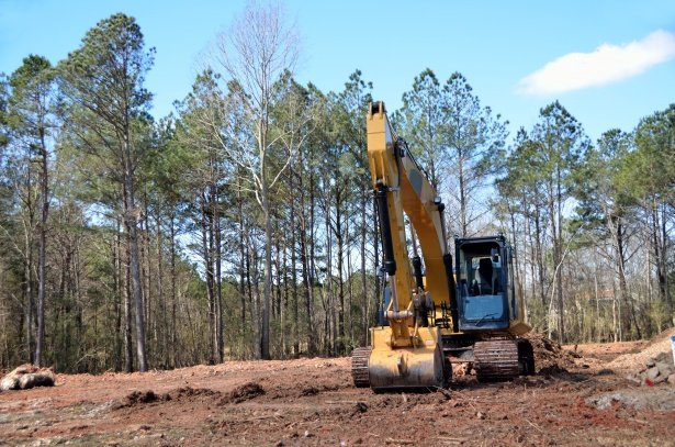 clearing land on new developed land off route 152